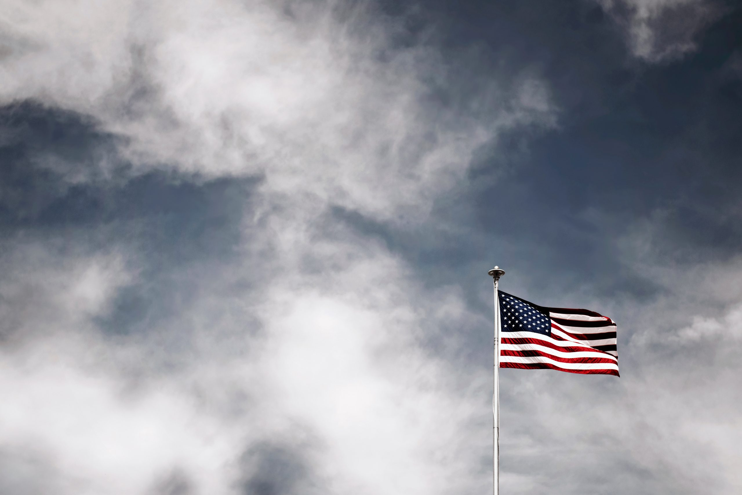 American flag waving in the wind 2