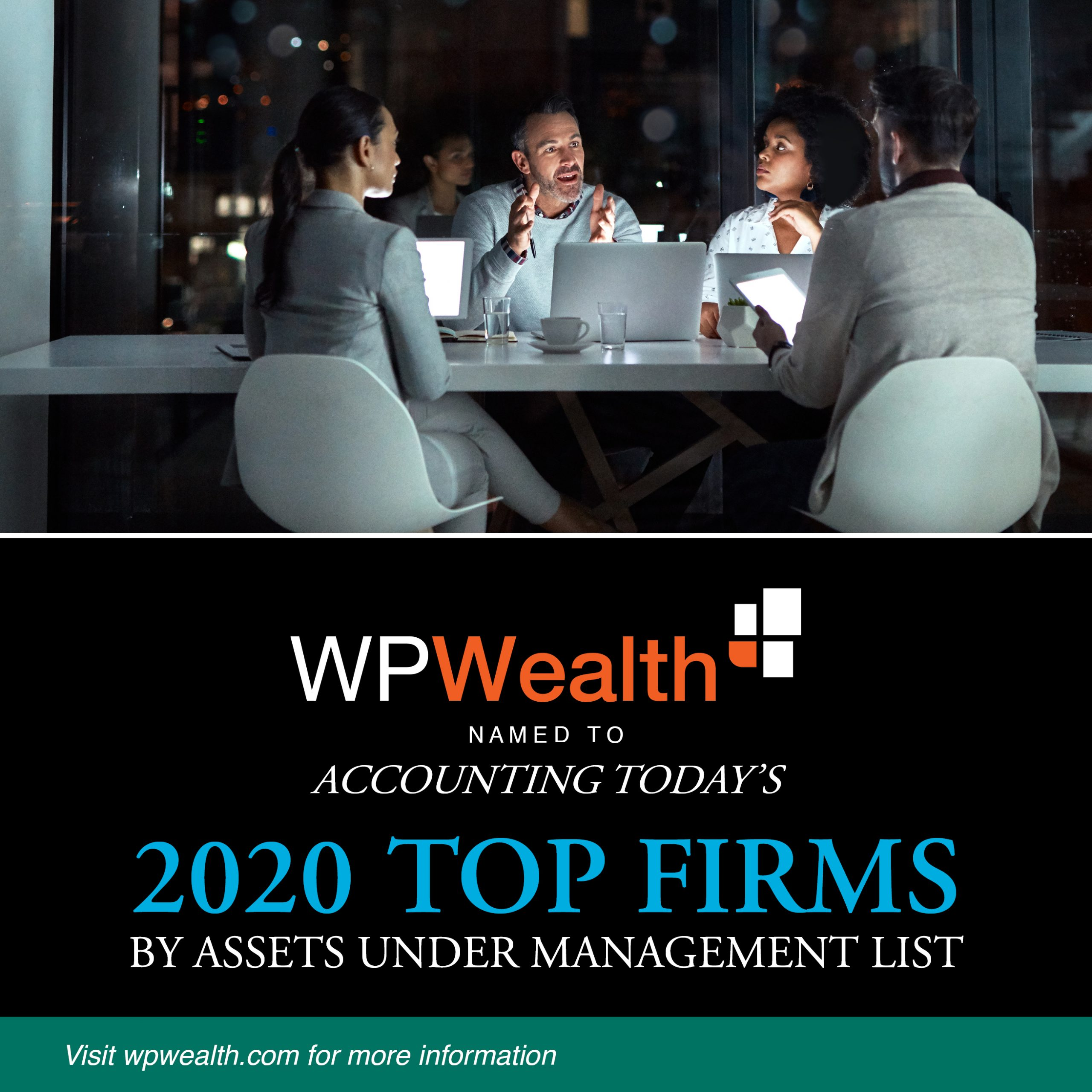 WPWealth named to Accounting Today's 2020 Top Firms
