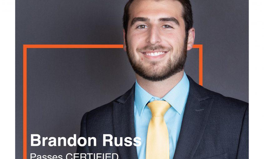 Brandon Russ Passes CFP Exam
